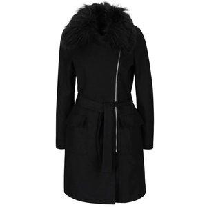 Palton negru AX Paris cu blană sintetică la pretul de 299.99