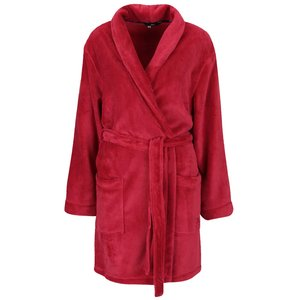 Halat de baie roșu DKNY