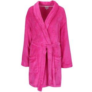 Halat de baie scurt roz DKNY