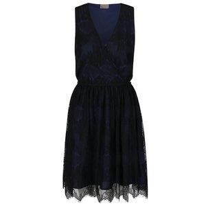 Rochie negru cu albastru din dantelă Vero Moda Sally