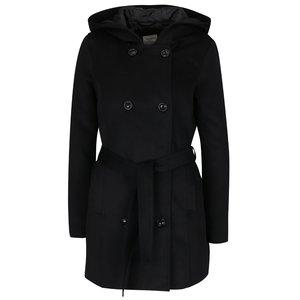 Palton negru Vero Moda cu guler înalt