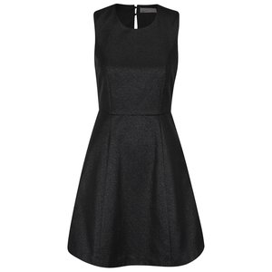 Rochie neagră fără mâneci Vero Moda Anna din material lucios