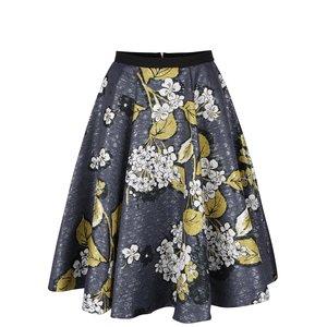 Closet, Fustă albastră cu model floral Closet