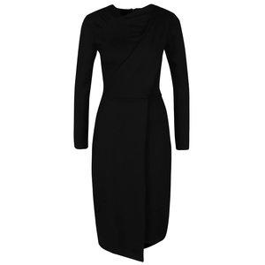 Rochie neagră cu mâneci lungi Closet