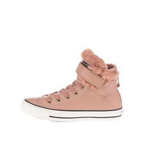 Converse, Teniși roz de damă Converse Chuck Taylor All Star din piele