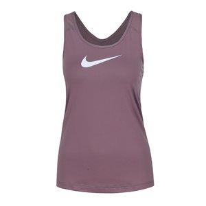 Top violet pentru antrenament Nike Pro Tank cu print cu logo pentru femei