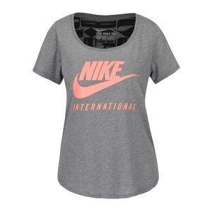 Nike, Tricou gri Nike cu print cu logo pentru femei