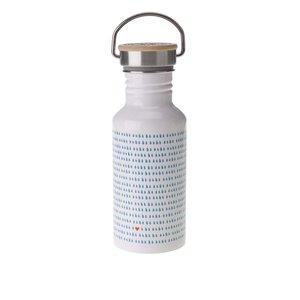 Sticlă de apă albă Folklore cu imprimeu