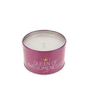 Lumânare parfumată turcoaz & roz Happy Jackson Queen of Awesomeness cu aromă de zmeură