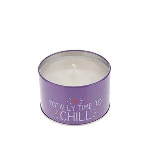 Lumânare parfumată turcoaz & violet Happy Jackson Time to Chill cu aromă de afine
