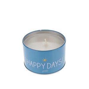 Lumânare galben & albastru parfumată Happy Jackson Happy days cu aromă de vanilie