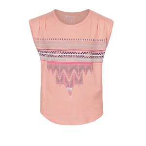 Roxy, Tricou roz piersică Roxy pentru fete