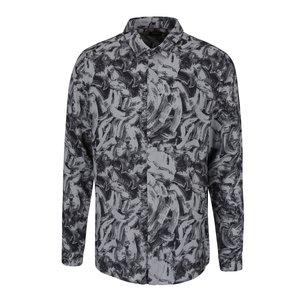Camasa Negru Cu Gri Si Model Burton Menswear London