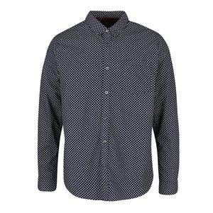 Cămașă albastru închis cu model fin Burton Menswear London