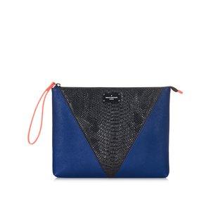 Geantă plic albastru cu negru și model șarpe Paul's Boutique Stephanie la pretul de 234.99