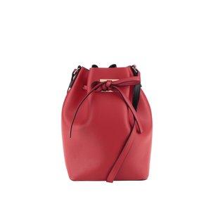 Geantă roșie Pieces Deena cu interior contrast