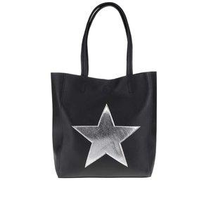 Geantă shopper neagră Haily´s Stellina cu aplicație stea argintie la pretul de 74.99