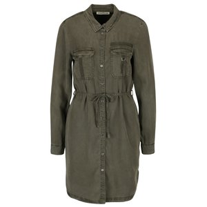 Rochie cămașă verde militar cu cordon Noisy May Egil la pretul de 229.99