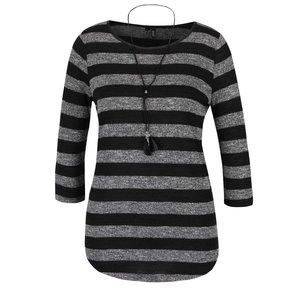 Bluză Haily's Elle în dungi gri cu negru