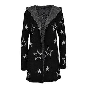 Cardigan negru Haily´s Sherine cu stele