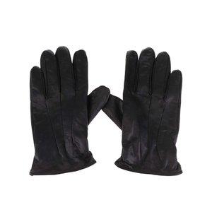 Jack & Jones, Mănuși negre Jack & Jones Max din piele