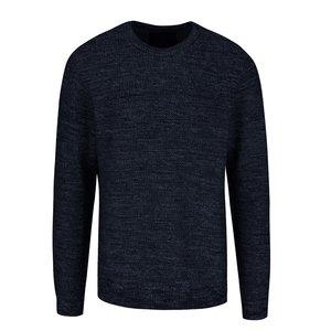 Pulover albastru închis Jack & Jones Seatlle cu model discret