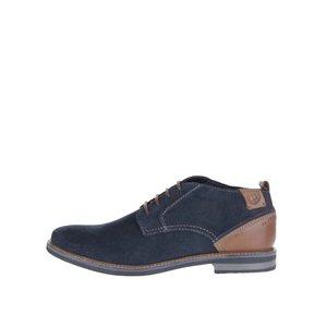 bugatti, Pantofi albaștri din piele întoarsă bugatti Vanity Evo pentru bărbați