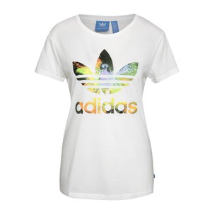 adidas Originals, Tricou alb adidas Originals cu logo multicolor