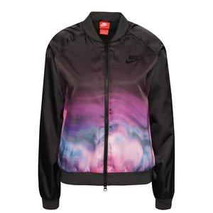 Jachetă bomber Nike Sportwear neagră cu model