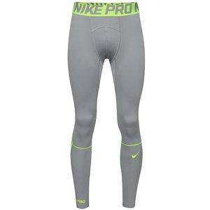 Colanți Nike Pro Hyperwarm gri cu verde la pretul de 254.99