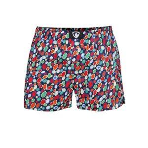 Pantaloni scurți roșu & albastru Reperesent Ali Spots din bumbac cu imprimeu la pretul de 47.99