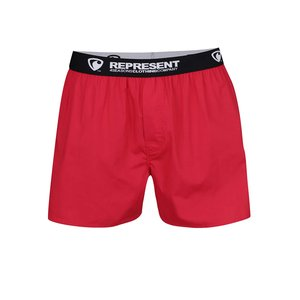 Pantaloni scurți roșii Represent Mikebox din bumbac