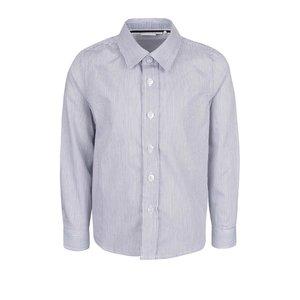 Cămașă alb & albastru name it Plusk din bumbac cu model în dungi pentru băieți