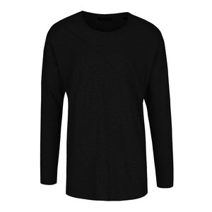 Bluză neagră ONLY & SONS Timothy din bumbac cu model discret la pretul de 91.99