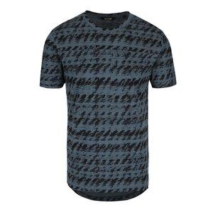 Tricou albastru & gri ONLY & SONS Azig din bumbac cu imprimeu la pretul de 69.99
