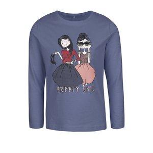 Bluză albastră name it Kalise cu print pentru fete