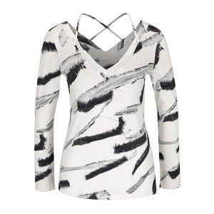 Bluză crem cu imprimeu negru abstract Pietro Filipi la pretul de 254.99