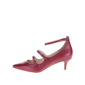 Pantofi roșu burgundy ALDO Altafesta din piele cu barete subțiri la pretul de 379.99