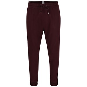 Pantaloni sport roșu burgundy Burton Menswear London cu talie elastică