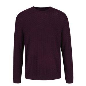 Pulover violet Burton Menswear London cu model discret