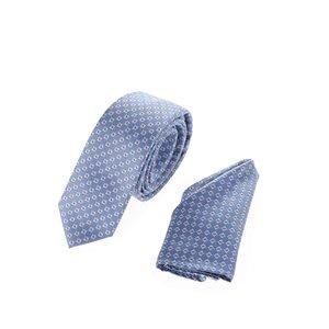 Set cravată & batistă albastru deschis Burton Menswear London cu model discret la pretul de 69.99