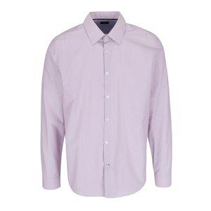 Cămașă roz pal Burton Menswear London slim fit cu model în dungi la pretul de 144.99