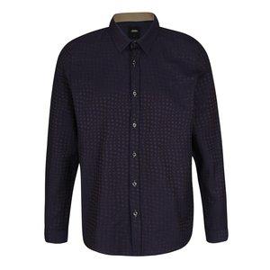 Cămașă albastru închis Burton Menswear London cu model discret la pretul de 169.99