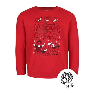 Bluză roșie cu imprimeu ZOOT Kids pentru fetițe
