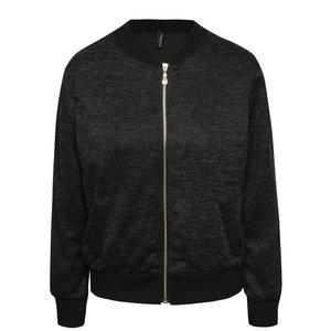 Jachetă bomber negru melanj Madonna Kendall