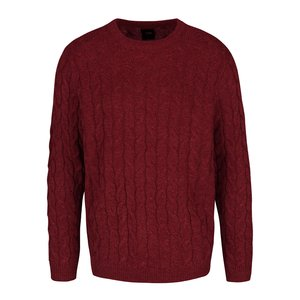 Pulover vișiniu Burton Menswear London cu model discret la pretul de 194.99