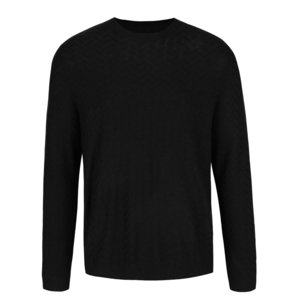 Pulover negru Burton Menswear London cu model discret la pretul de 179.99