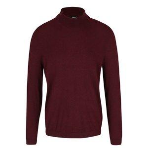 Burton Menswear London, Pulover vișiniu Burton Menswear London cu guler înalt
