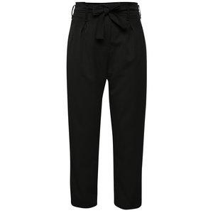 Pantaloni negri Madonna Macy Pant cu talie înaltă