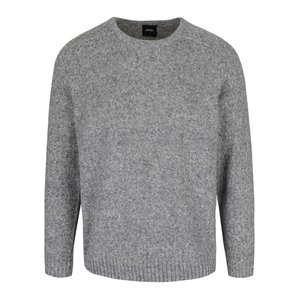 Pulover gri Burton Menswear London cu model discret